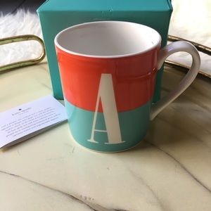 Kate Spade What's In A Name Lenox Coffee Mug